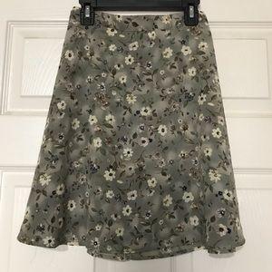 Vintage 90s/y2k floral midi skirt
